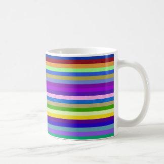 multicolor geometric Design Basic White Mug