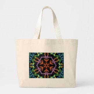 multicolor geometric large tote bag