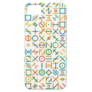 Multicolor Geometric Line Random Shapes Grid Barely There iPhone 5 Case