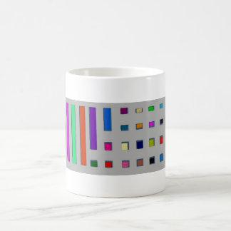 Multicolor geometric basic white mug