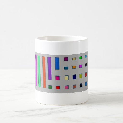 Multicolor geometric coffee mugs