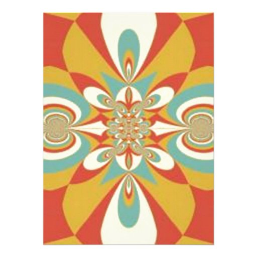Multicolor Geometrical Abstract Art Personalized Invites
