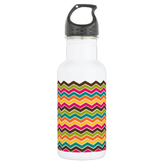 Multicolor girly chevron 532 ml water bottle
