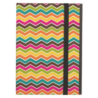Multicolor girly chevron iPad folio case