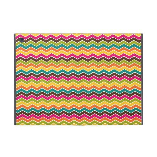 Multicolor girly chevron iPad mini cases