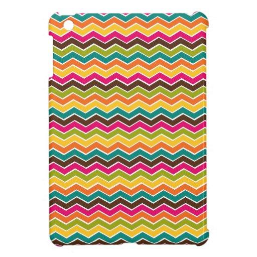 Multicolor girly chevron iPad mini covers