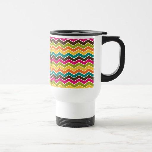 Multicolor girly chevron coffee mugs