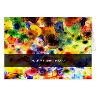 Multicolor glass all purpose card (Personalize).
