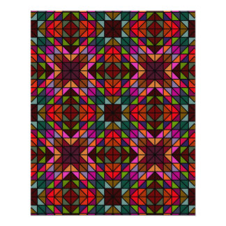 Multicolor glass mosaic 11.5 cm x 14 cm flyer