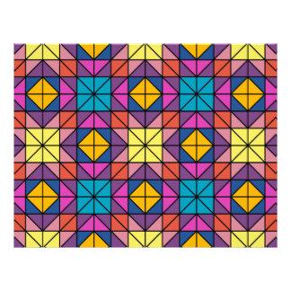 Multicolor glass mosaic 21.5 cm x 28 cm flyer