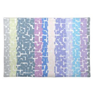 Multicolor Green/Grey/Beige/Pink/Purple/Blue Placemat