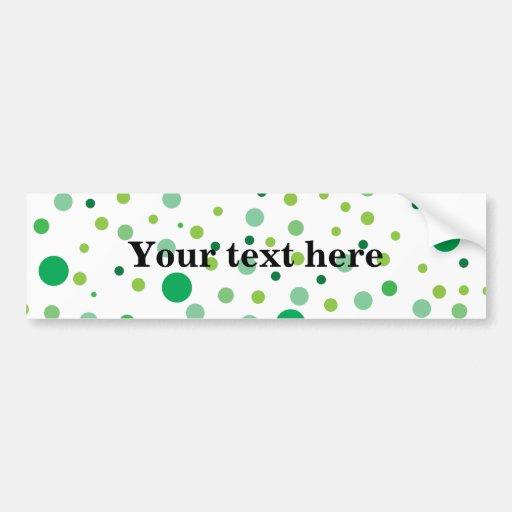 Multicolor green polka dots  bumper stickers