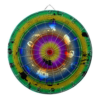 Multicolor Green/Yellow/Silver/Pink/Purple/Blue Dartboard