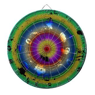 Multicolor Green/Yellow/Silver/Pink/Purple/Blue Dartboard With Darts