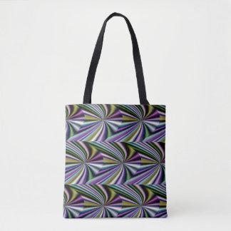 Multicolor Green/Yellow/Silver/Pink/Purple/Blue Tote Bag