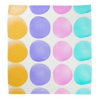 Multicolor hand painted watercolor dots kerchiefs