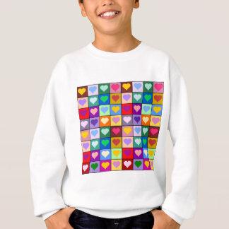 Multicolor Heart Squares Sweatshirt