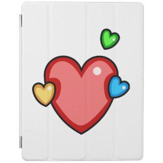Multicolor Hearts iPad Cover
