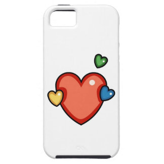 Multicolor Hearts iPhone 5/5S Covers