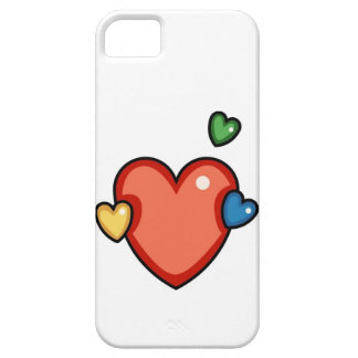 Multicolor Hearts iPhone 5 Covers