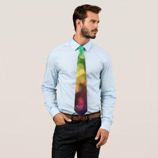 Multicolor Hearts Tie