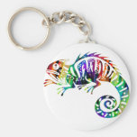 MULTICOLOR IGUANA PRODUCTS KEYCHAIN