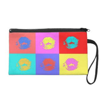 Multicolor Kisses Wristlet Clutch