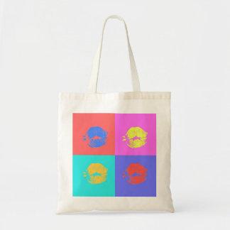 Multicolor Kisses Budget Tote Bag