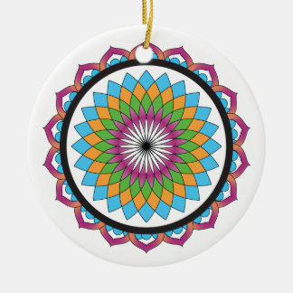 Multicolor Lotus Christmas Ornament