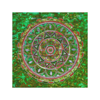 Multicolor mandala canvas print