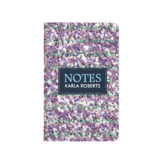 Multicolor Modern Glitter Texture Pattern Journal