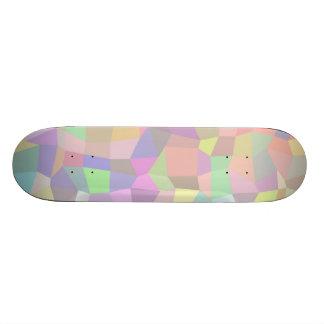 Multicolor mosaic background skate decks