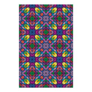 Multicolor mosaic 14 cm x 21.5 cm flyer