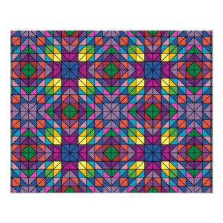 Multicolor mosaic 11.5 cm x 14 cm flyer