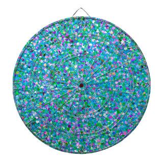 Multicolor Mosaic Modern Grit Glitter #2 Dartboard
