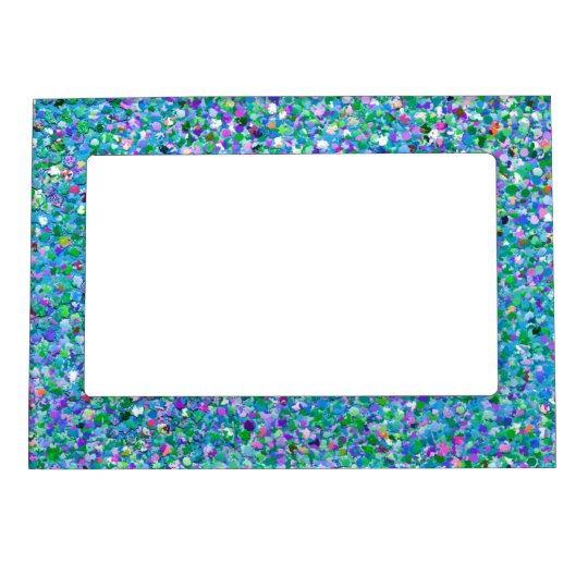 Multicolor Mosaic Modern Grit Glitter #2 Magnetic Picture