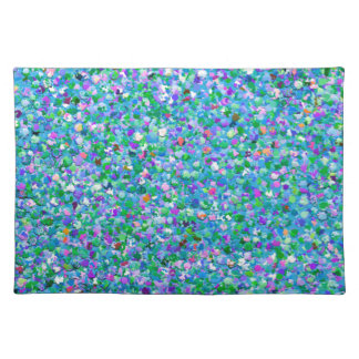 Multicolor Mosaic Modern Grit Glitter #2 Placemat