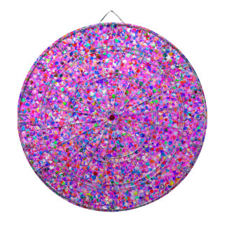Multicolor Mosaic Modern Grit Glitter #3 Dartboard