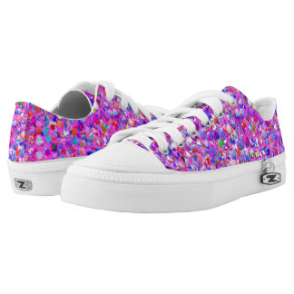 Multicolor Mosaic Modern Grit Glitter #3 Low Tops