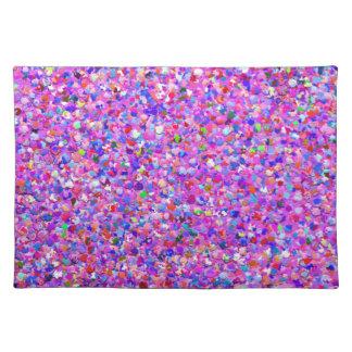 Multicolor Mosaic Modern Grit Glitter #3 Placemat