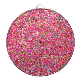 Multicolor Mosaic Modern Grit Glitter #4 Dartboard