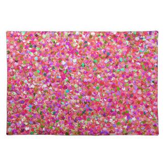 Multicolor Mosaic Modern Grit Glitter #4 Placemat