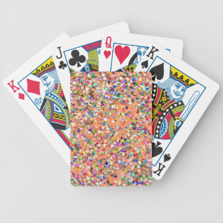 Multicolor Mosaic Modern Grit Glitter #5 Bicycle Playing Cards