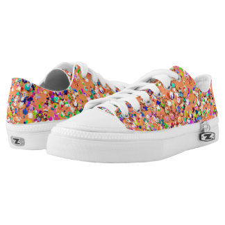 Multicolor Mosaic Modern Grit Glitter #5 Low Tops