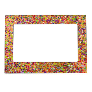 Multicolor Mosaic Modern Grit Glitter #5 Magnetic Frame