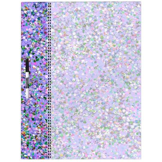 Multicolor Mosaic Modern Grit Glitter #6 Dry Erase