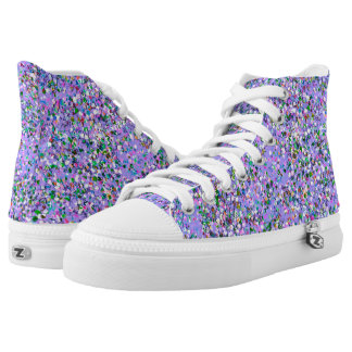 Multicolor Mosaic Modern Grit Glitter #6 High Tops