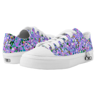 Multicolor Mosaic Modern Grit Glitter #6 Low Tops