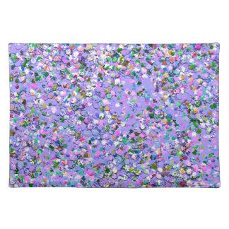 Multicolor Mosaic Modern Grit Glitter #6 Placemat