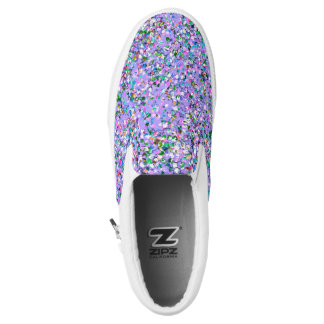 Multicolor Mosaic Modern Grit Glitter #6 Slip-On Shoes